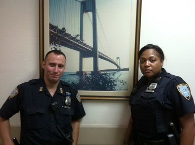 Bridges and Tunnels Officers Paul Padilla and December Bailey