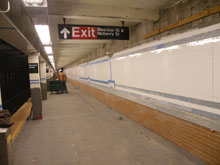 Photo of new Bleecker Street station platform