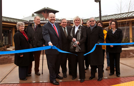 Cortlandt Station ribbon-cutting photo