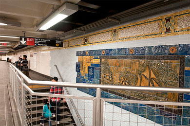 Cortlandt Street R Subway Station Photo