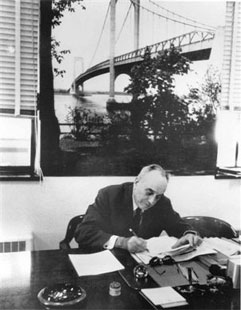 Robert Moses in his office