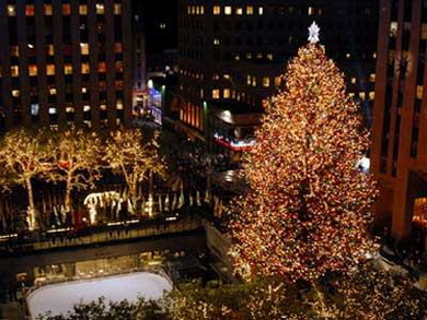 Take the Train to  the Rockefeller Center Christmas Tree Lighting