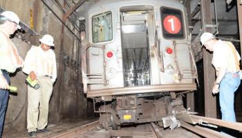 Derailed #1 Train in Tunnel Near 125th St