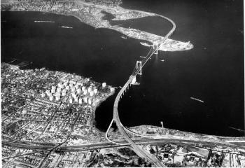 Throgs Neck Bridge from above