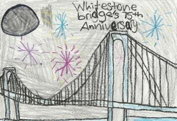 Winning drawing celebrating bridge's 75th Anniversary