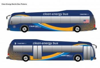 Rendering of Proterra all-electric buses