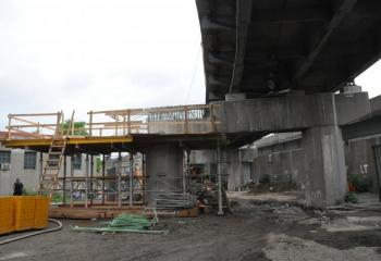 The new Manhattan/Queens ramp begins to take shape