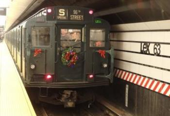 "The ""Shoppers Special"" train at Lexington Av/63 St. Photo Credit: Ron Yee"
