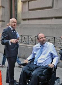 MTA NYCT President Andy Byford and Alex Elegudin, the incoming NYC Transit Senior Advisor for Systemwide Accessibility.