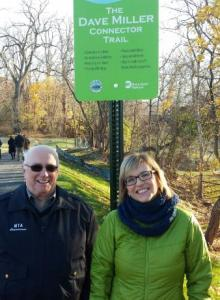 MTA Board Member and Metro-North Committee Chairman James L. Sedore Jr. and Karen Timko, Director of Environmental Compliance for MTA Metro-North Railroad