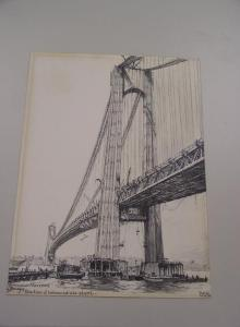 Rethi sketch of Verrazano-Narrows under construction