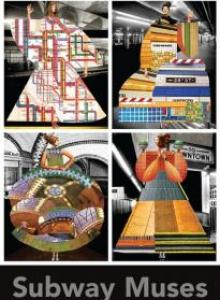 """Subway Muses"" by Johanna Goodman. Commissioned by MTA Arts & Design"