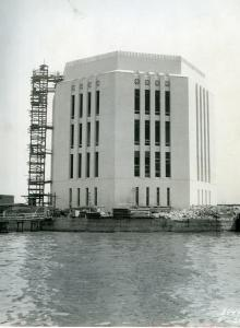 The Governor's Island vent building almost completed