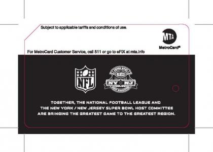 Back of Super bowl MetroCard