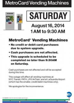Credit and Debit Outage Poster