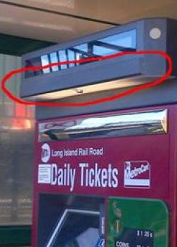 camera over ticket machine