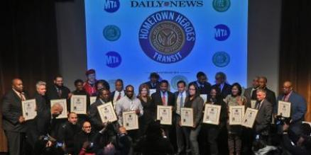 Seventeen MTA New York City Transit employees were named Daily News Hometown Heroes in Transit during a ceremony at the Edison Ballroom on Thu., April 6, 2017.