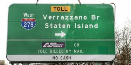 Crews Replaced the First Verrazzano-Narrows Bridge Sign to Include Additional 'Z'