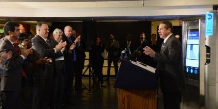 Governor Cuomo Announced Technology Boost to MTA at NY Transit Museum