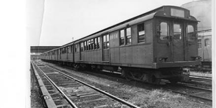 A BMT Triplex Car, a D -Type, which was built in 1927 by the Pressed Steel Car Company. Date unknown