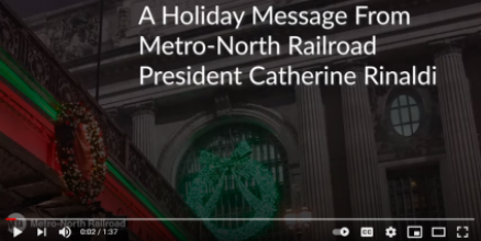 Holiday Message from President Catherine Rinaldi