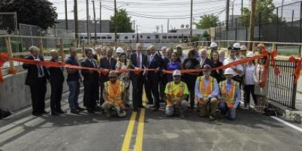 MTA Officials Today Reopened Urban Avenue in New Cassel