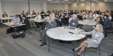 More than 100 industry representatives attended the symposium at MTA's headquarters in lower Manhattan