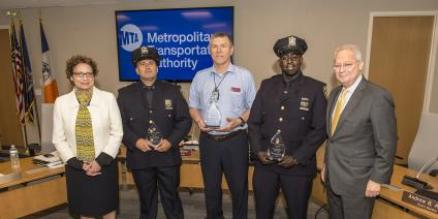 MTA employees recognized for helping to reunite a nonverbal autistic teen with his family