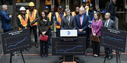 MTA Leadership Announced Performance Improvements at Fulton Center