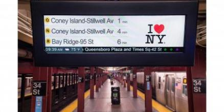 Countdown clocks on Q, N, R at 34th Street