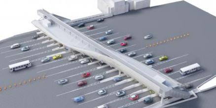 Conceptual rendering of Bronx toll plaza