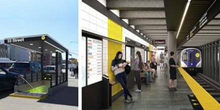 Rendering of Renovations to Brooklyn R Stations