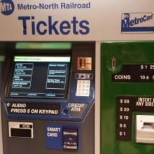 Metro-North ticket machine