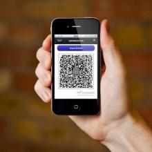 QR rcode display on smart phone
